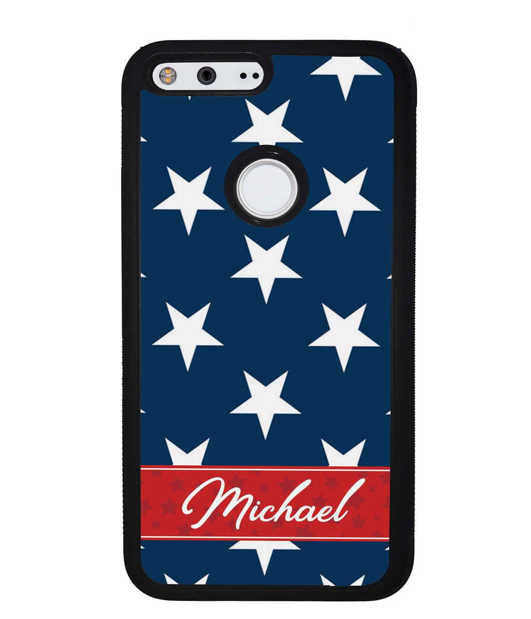 Red White and Blue Stars Personalized | Google Phone Case