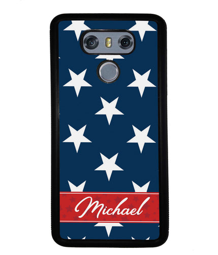 Red White and Blue Stars Personalized | LG Phone Case
