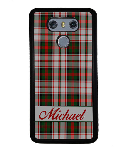 Red and Green Tartan Plaid Personalized | LG Phone Case
