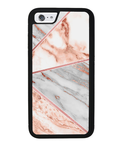 Rose Gold Marble Triangles | Apple iPhone Case
