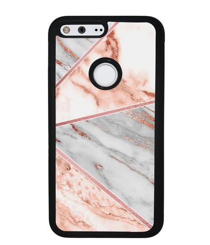 Rose Gold Marble Triangles | Google Phone Case