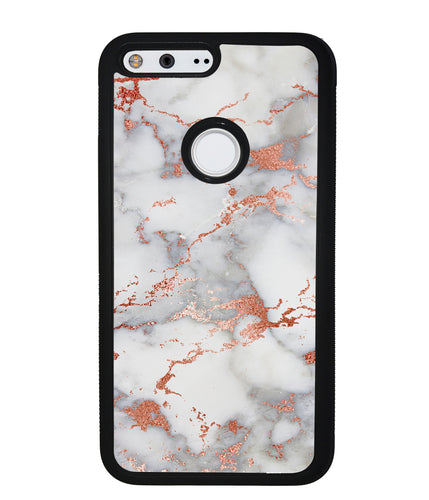 Rose Gold White Marble | Google Phone Case