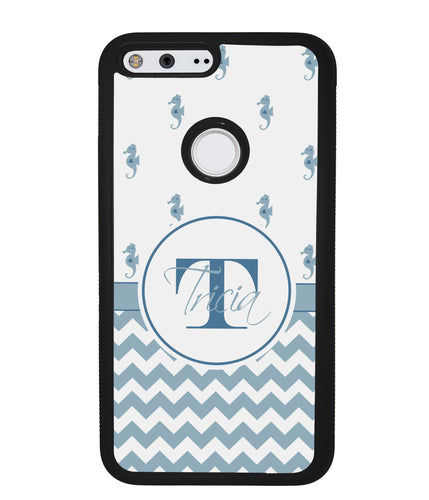 Sea Horse Chevron Personalized | Google Phone Case