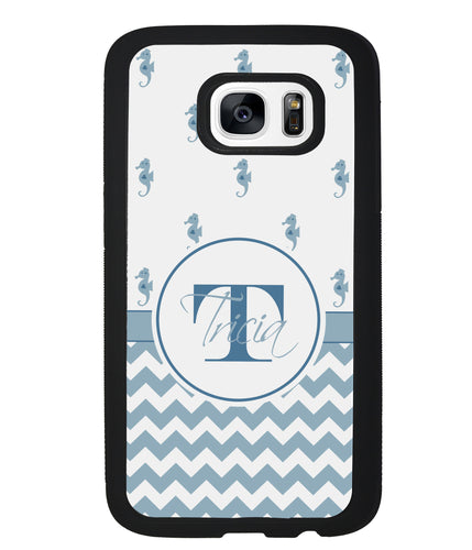 Sea Horse Chevron Monogram | Samsung Case