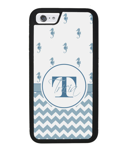 Sea Horse Chevron Personalized | Apple iPhone Case