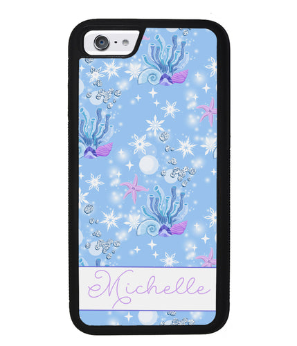 Sea Shells Coral and Starfish Personalized | Apple iPhone Case