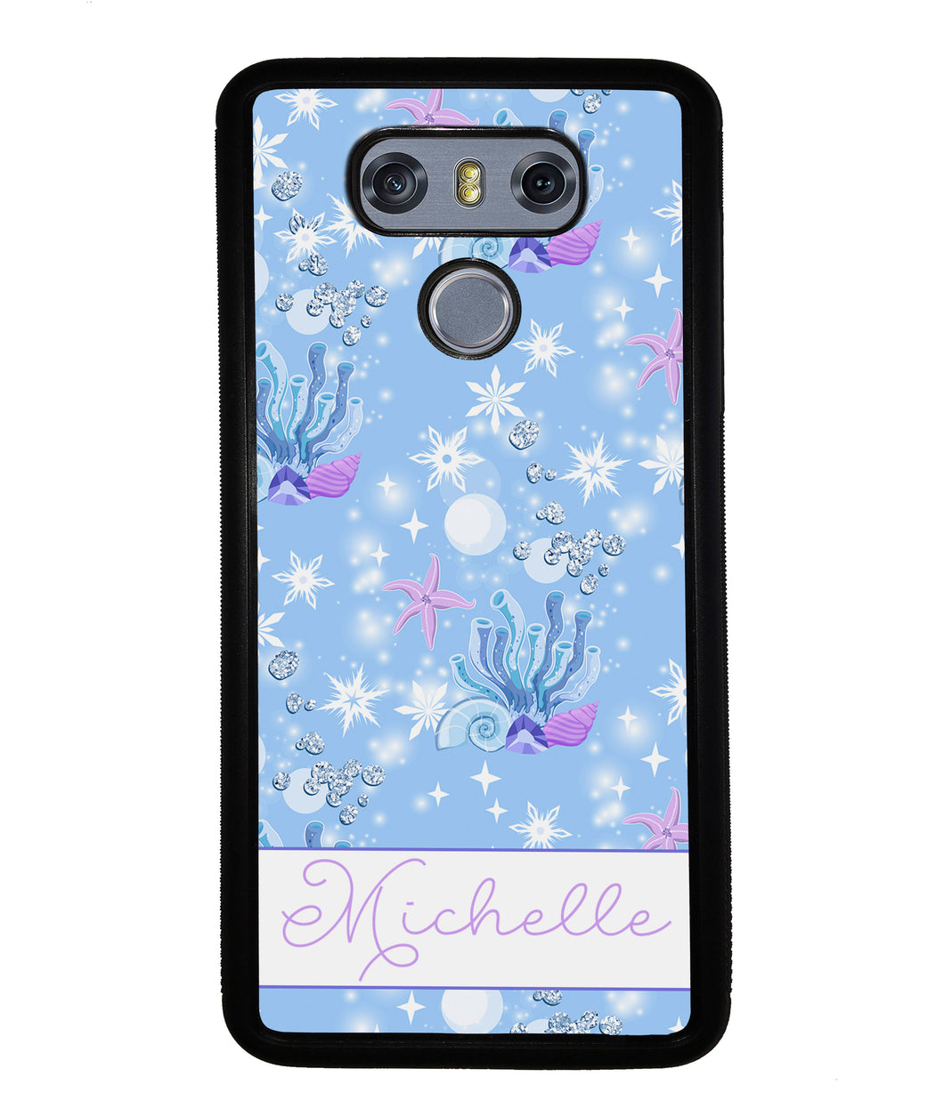 Sea Shells Coral and Starfish Personalized | LG Phone Case