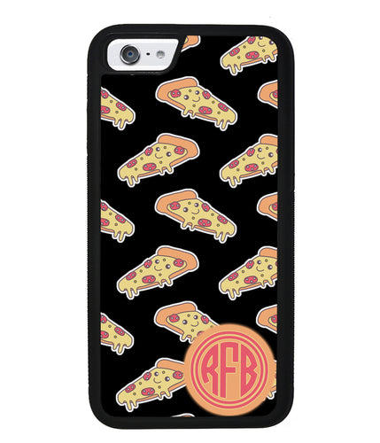 Smiley Face Pizza Monogram | Apple iPhone Case