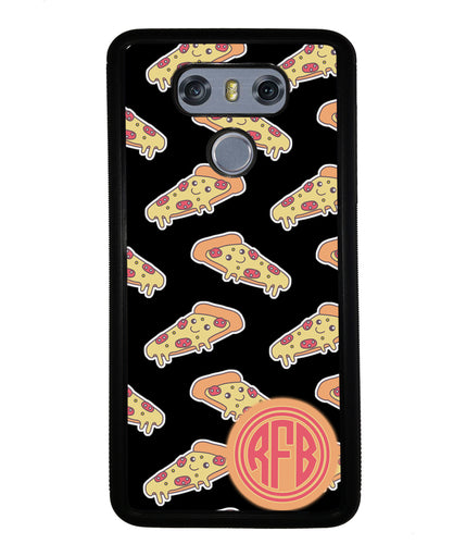 Smiley Face Pizza Monogram | LG Phone Case