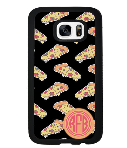 Smiley Face Pizza Monogram | Samsung Phone Case