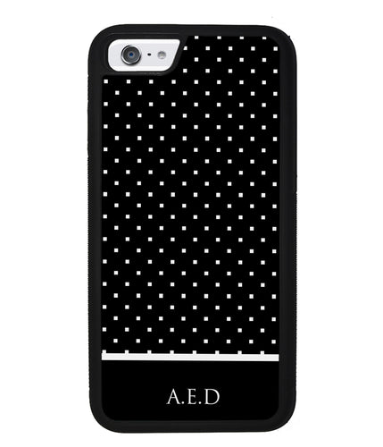 Black and White Polka Dots Monogram | Apple iPhone Case
