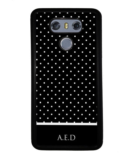 Black and White Polka Dots Monogram | LG Phone Case