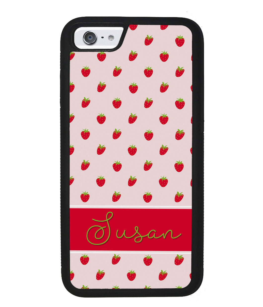 Strawberry Pattern Personalized | Apple iPhone Case