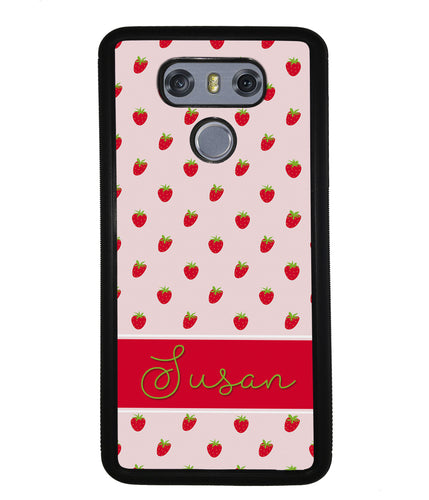 Strawberry Pattern Personalized | LG Phone Case