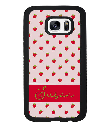 Strawberry Pattern Personalized | Samsung Phone Case