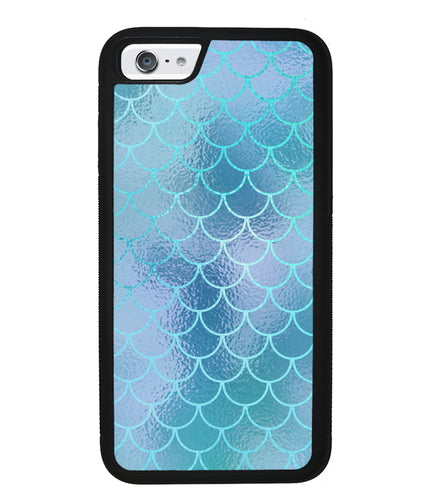Teal Blue Mermaid Scales  | Apple iPhone Case