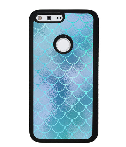 Teal Blue Mermaid Scales | Google Phone Case