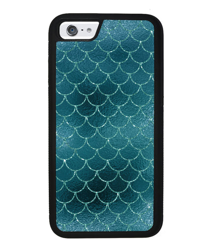 Teal Shiny Glitter Mermaid Scale | Apple iPhone Case