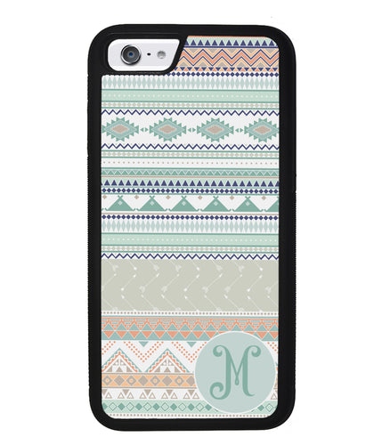 Tribal Pastel Colors Initial | Apple iPhone Case