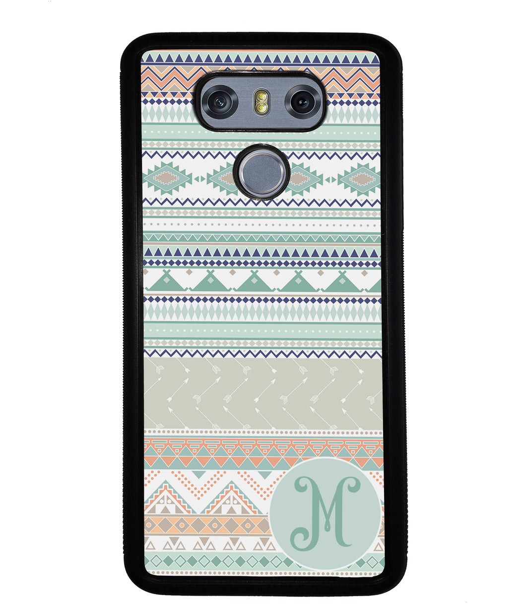 Tribal Pastel Colors Initial | LG Phone Case