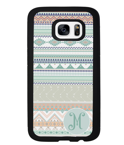 Tribal Pastel Colors Initial | Samsung Phone Case