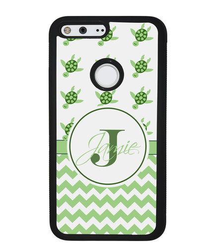 Turtle Chevron Personalized | Google Phone Case