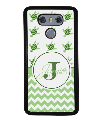 Turtle Chevron Personalized | LG Phone Case