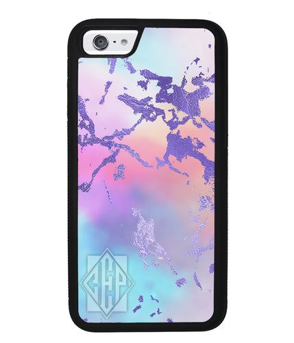 Unicorn Marble Diamond Monogram | Apple iPhone Case