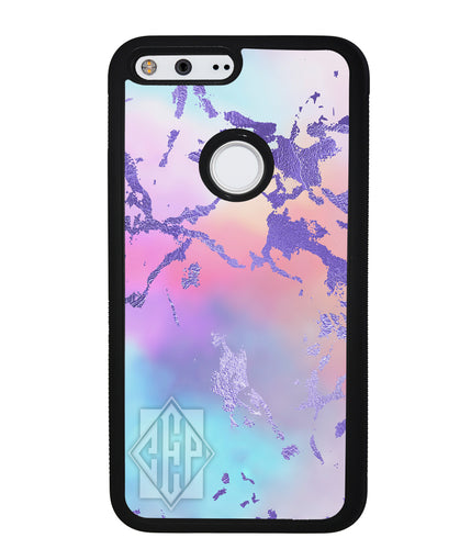 Unicorn Marble Diamond Monogram | Google Phone Case