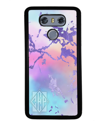 Unicorn Marble Diamond Monogram | LG Phone Case