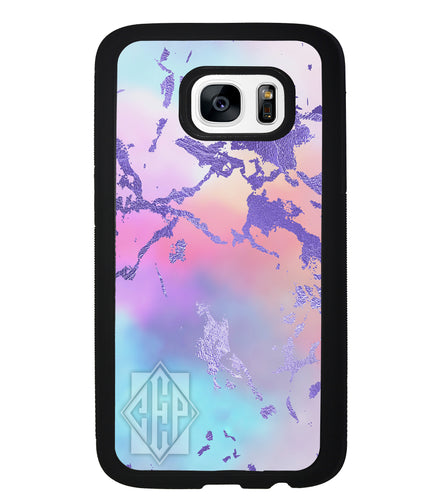Unicorn Marble Diamond Monogram | Samsung Phone Case