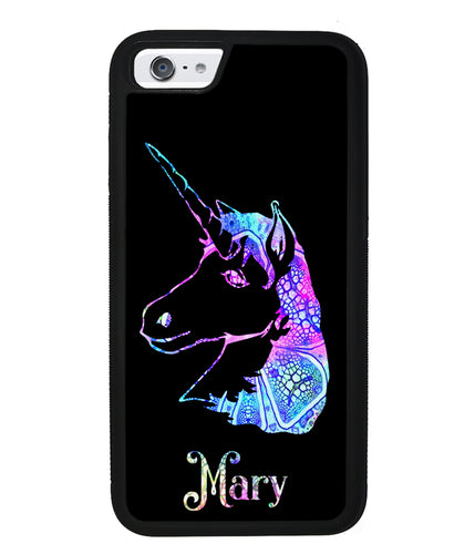 Unicorn Neon Sign Personalized | Apple iPhone Case