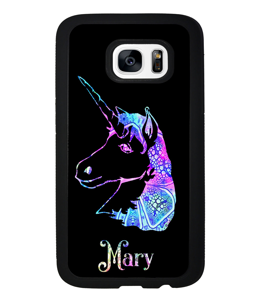 Unicorn Neon Sign Personalized | Samsung Phone Case