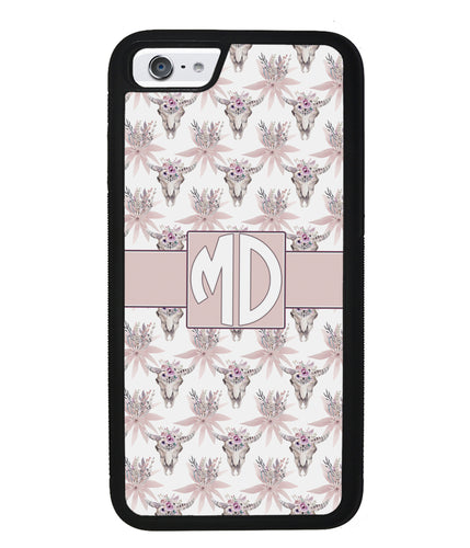 Vintage Skull Monogram | Apple iPhone Case