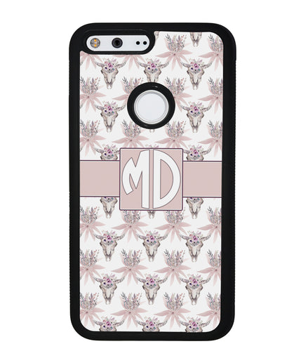 Vintage Skull Monogram | Google Phone Case