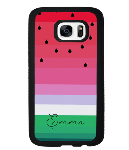 Watermelon Gradient Personalized | Samsung Phone Case