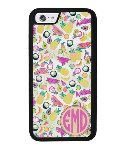 Watermelon Pineapple Fruit Monogram | Apple iPhone Case