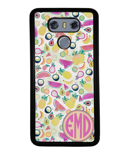 Watermelon Pineapple Fruit Monogram | LG Phone Case
