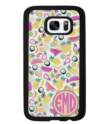 Watermelon Pineapple Fruit Monogram | Samsung Phone Case