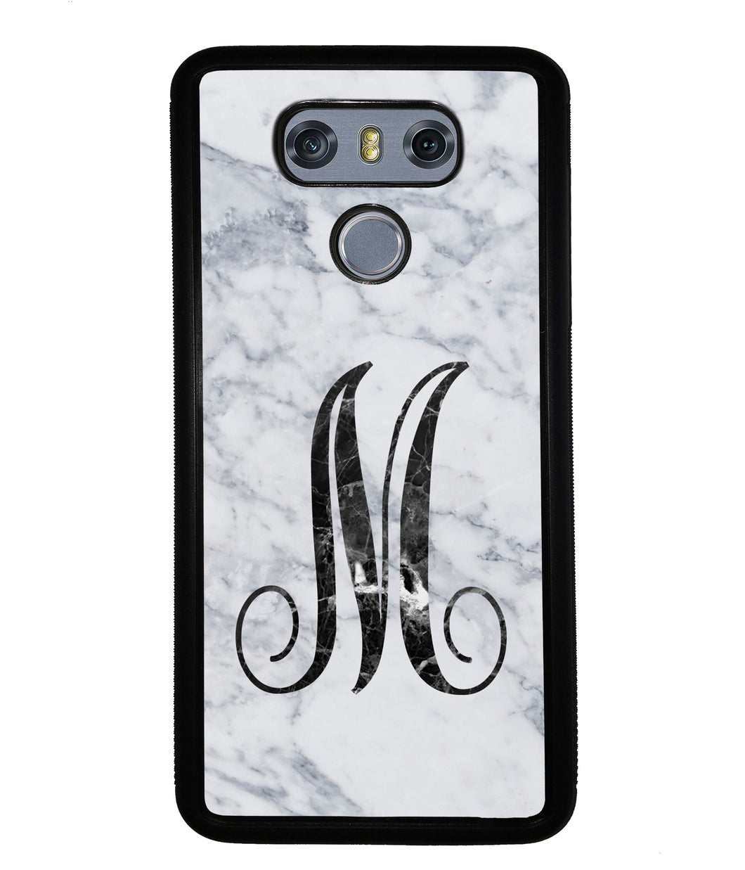 White Marble Initial | LG Phone Case