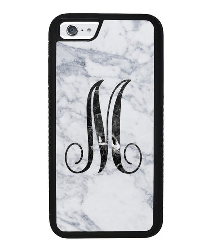 White Marble Initial | Apple iPhone Case