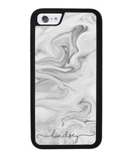 White Marble Script Personalized | Apple iPhone Case