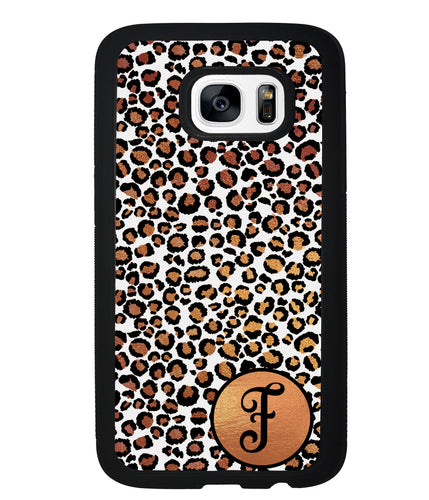 White Gold Foil Leopard Skin Personalized | Samsung Phone Case