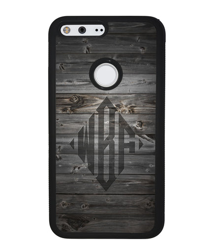 Wood Texture Diamond Monogram | Google Phone Case
