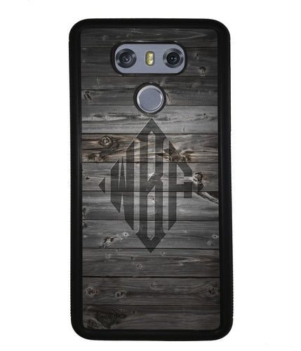 Wood Texture Diamond Monogram | LG Phone Case
