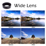 Universal 3 in 1 Camera Lens Set For Mobile  |  External Clip On Lenses