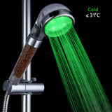 "Madsbag Color Changing LED Shower Head With Temperature Sensor (2.5"")"