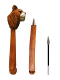 Madsbag Creative Pen For Kids Wooden Handcrafted Artistic Cute Animal Shaped (Lion)