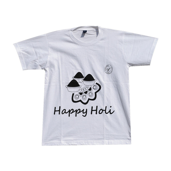 Madsbag Unisex Colour Changing T-Shirt | Happy Holi - Colour Pallet