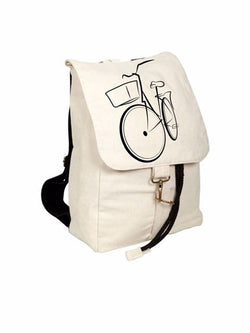 Madsbag Unisex Casual Cotton Canvas Backpack Bag